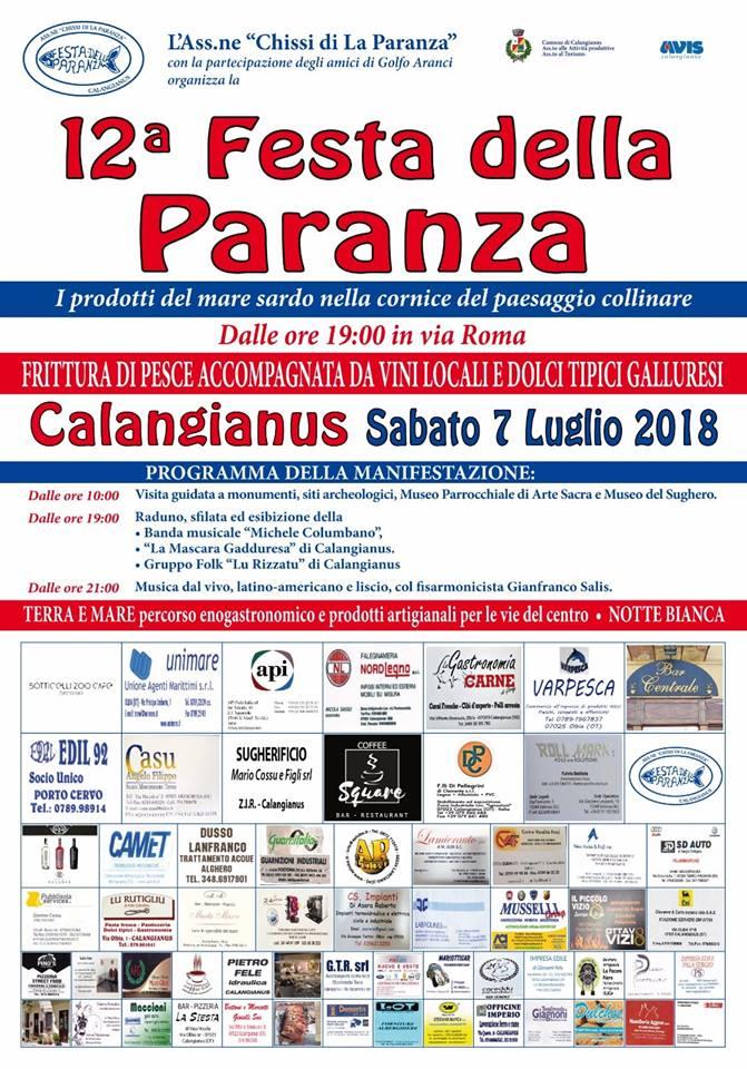 festa paranza calangianus