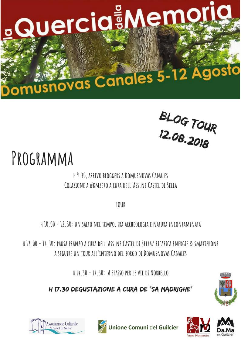 Blog tour norbello