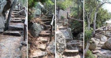 sentiero tra rocce