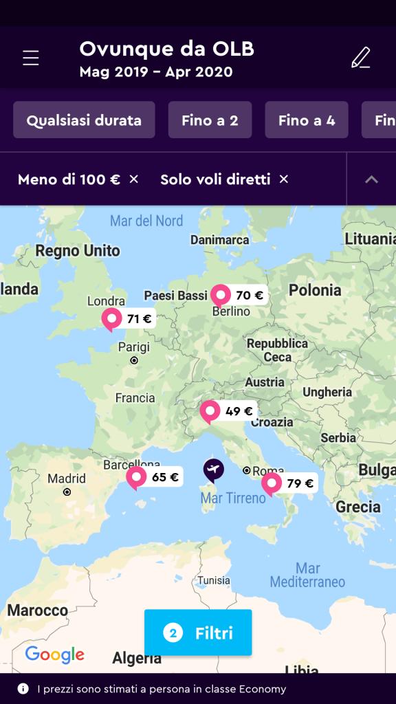esplora mappa