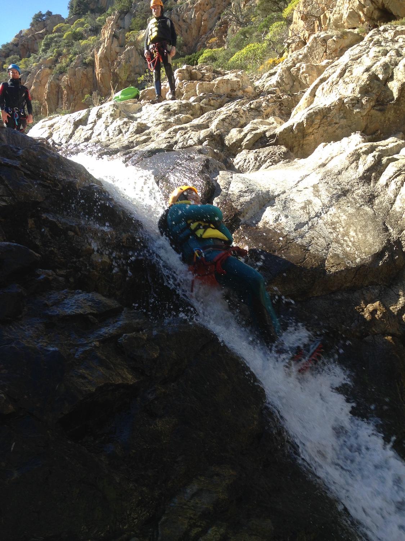 canyoning scivolo