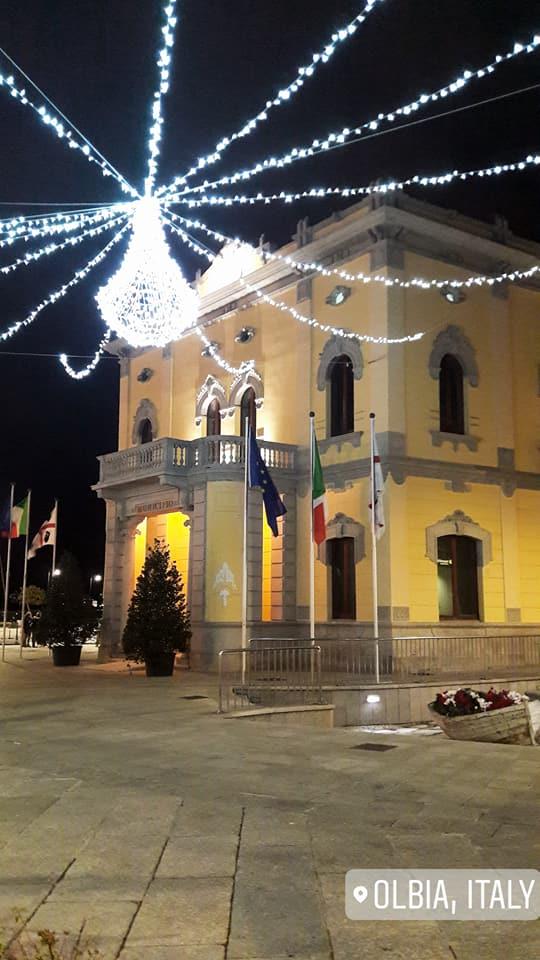 municipio Olbia luci