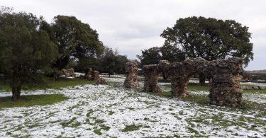 acquedotto romano olbia neve